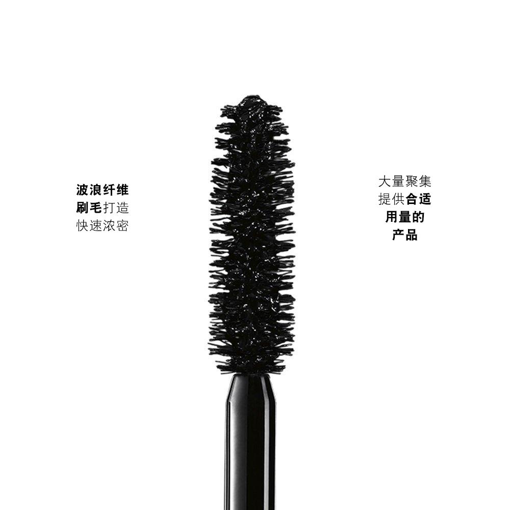 Lancôme Monsieur Big Volumizing Mascara (超丰盈睫毛膏)睫毛刷特写,柔软的波浪状纤维刷毛